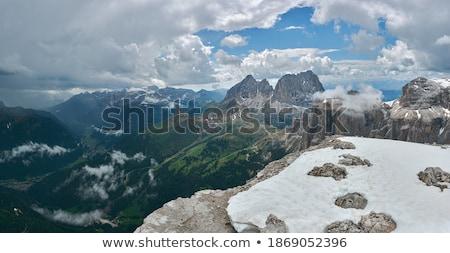 Sassolungo mount and Fassa Valley Stock photo © Antonio-S