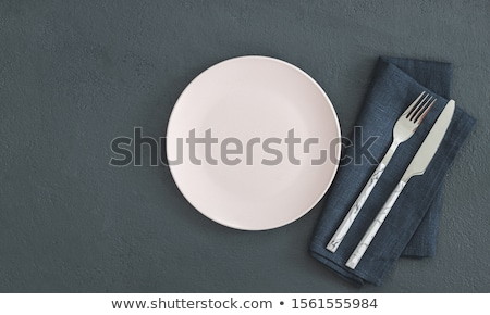Stock photo: Empty Copy Space Circle In Set Of Knives And Forks