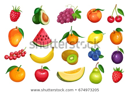 Photo stock: Collection Cartoon Fruit And Berries