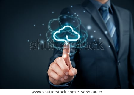 Cloud Computing Hände Symbol Hand Internet Server Stock foto © italianestro
