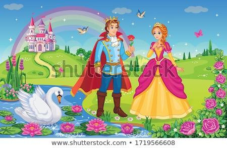 Güzel prens prenses örnek düğün Stok fotoğraf © Dazdraperma