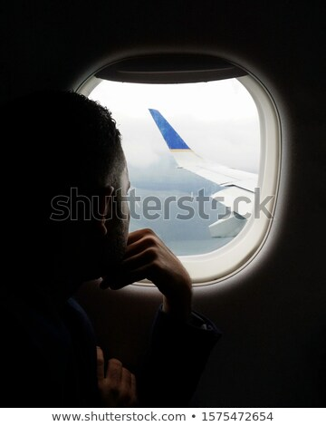 Man looking at plane Stock photo © photography33