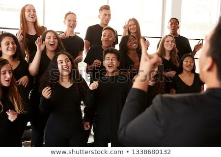 Koro çocuklar müzik eğlence ağız erkek Stok fotoğraf © Galyna