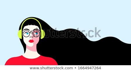 Beautiful illustration with headphones  Stock photo © Elmiko