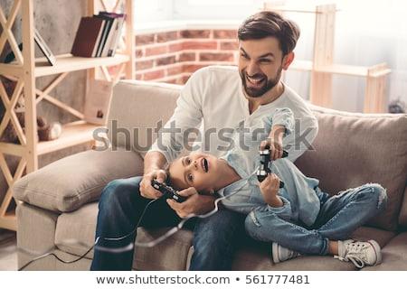 Stok fotoğraf: Genç · kız · oynama · oyun · baba · kız · eğlence