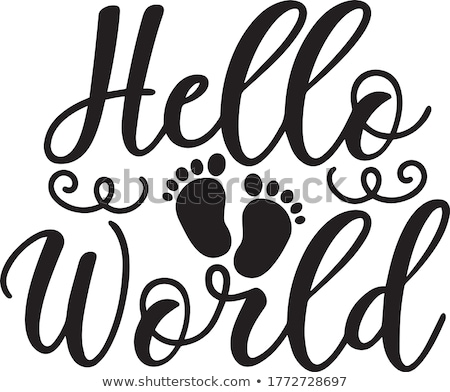 Stock photo: hello world