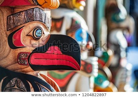 Totem poles in Alaska Stock photo © wildnerdpix