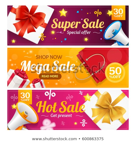 Set of big sale horizontal banners stock photo © orson