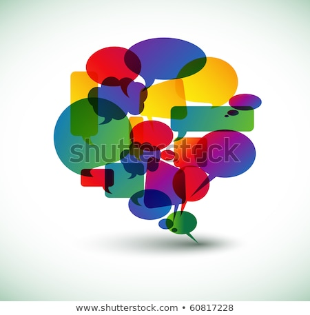 Big speech bubble made from colorful small bubbles Stock photo © orson