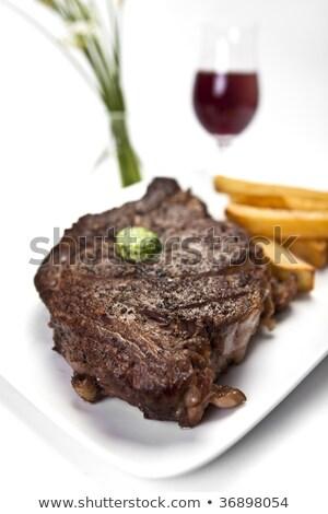 açougueiro · francês · bife · comida · homem · retrato - foto stock © photography33