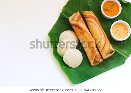 indian · plaque · banane · feuille - photo stock © mnsanthoshkumar
