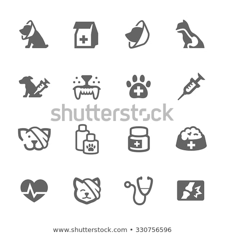 Stok fotoğraf: Pets And Veterinary Icons