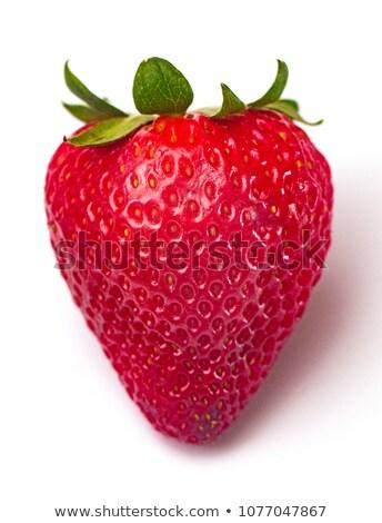 Stock photo: Strawberry solo isolated.