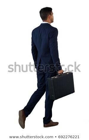 aktetas · zakenman · hand · geïsoleerd - stockfoto © photography33