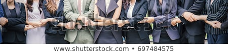 ストックフォト: 女性 · ワーカー · 外に · 手 · ビジネス