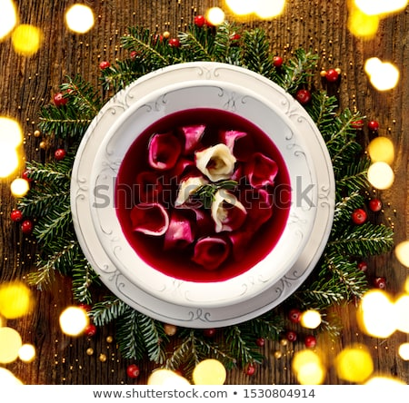 Stock photo: homemade red borscht
