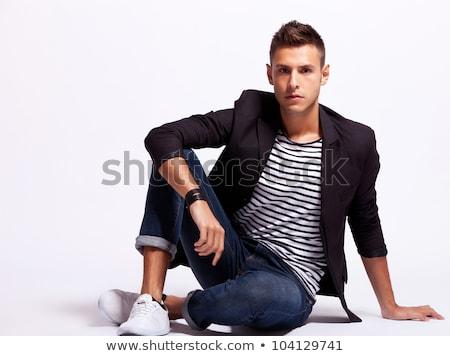 bonito · jovem · moda · modelo · terno - foto stock © get4net