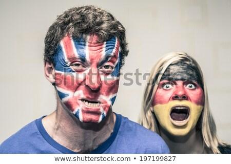 Stock photo: Patriotic German couple
