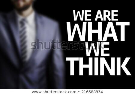 Stock fotó: Core Values Written On A Blackboard