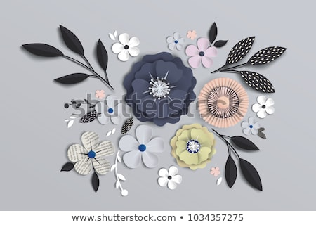 vector paper flowers stock photo © Dahlia