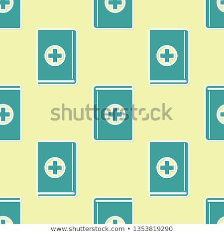 бесшовный шаблон медицинской четыре цветами Сток-фото © lkeskinen