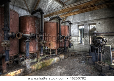 Dilapidated old boiler house Stock photo © RuslanOmega