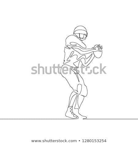futebol · longo · escola · secundária · uniforme · pronto - foto stock © lisafx