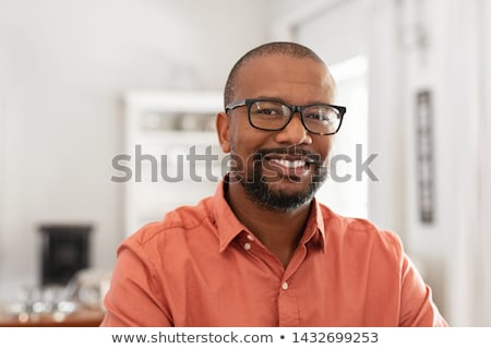 mature man on black   relaxed stock photo © lisafx