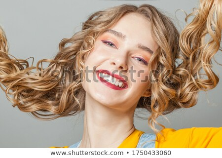 close-up of a young pretty blonde's face Stock photo © photography33