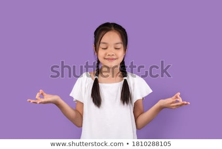 Girl meditating stock photo © zzve