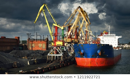 Ship crane in port load coals Stock photo © papa1266