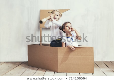 girl playing with boat stock photo © photography33