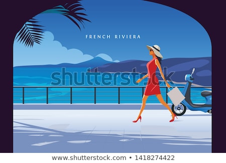 jeunes · mode · filles · illustration · Teen - photo stock © kakigori