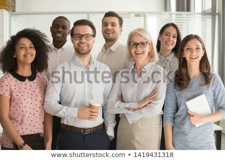 Banquier permanent agence heureux temps portrait Photo stock © photography33