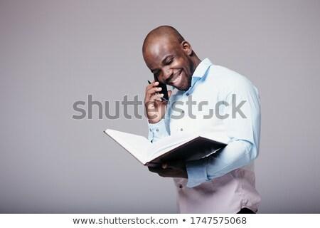 Cégvezetők telefon kéz mappa üzlet iroda Stock fotó © photography33