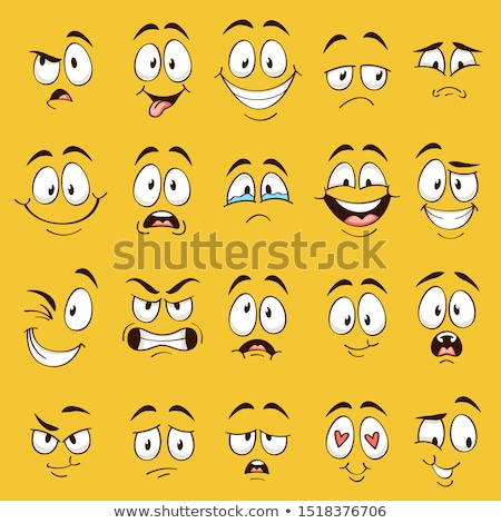 Funny Cartoon Faces Stock photo © pcanzo
