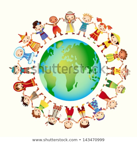 multicultural children on planet earth, cultural diversity  stock photo © creative_stock