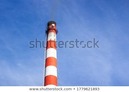 Old brick smokestack on white Stock photo © pzaxe