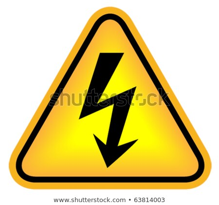 Vector gevaar hoogspanning eps8 industriële Stockfoto © pzaxe