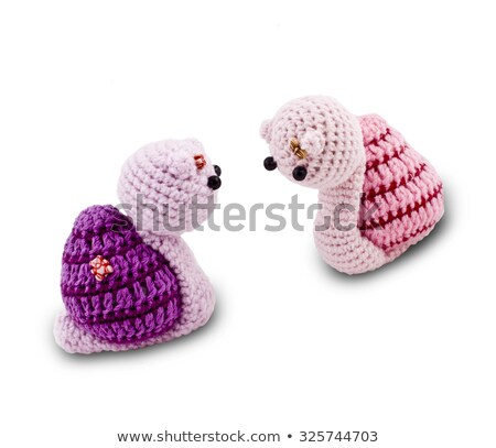 knitted Garden snail in front of a white background Stock photo © shutswis