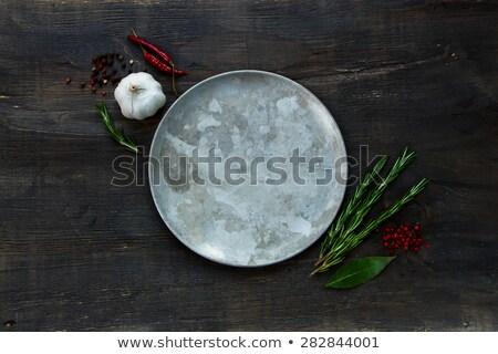 Gałka muszkatołowa tablicy żywności tle Zdjęcia stock © Wikki