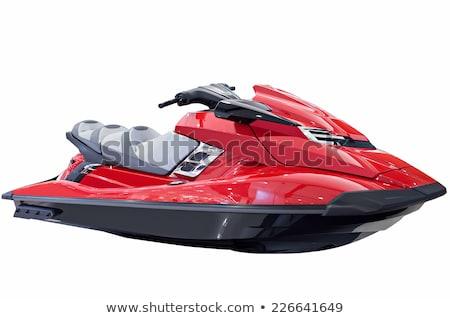 Piros jet ski tenger férfiak sebesség erő Stock fotó © cosma
