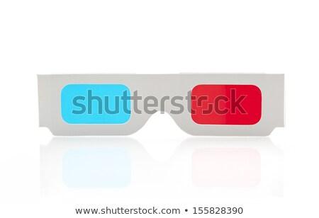 3D 眼鏡 青 表面 紙 ストックフォト © ifeelstock
