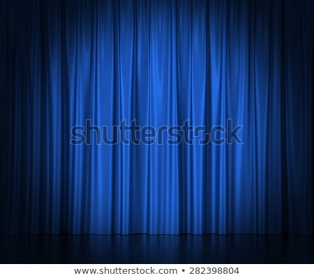 Spotlights on blue velvet cinema curtains Stock photo © Lightsource