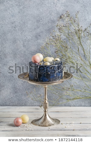 mavi · düğün · pastası · beyaz · düğün · fincan · kekler - stok fotoğraf © KMWPhotography
