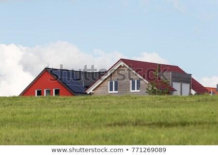 housing area in rural landscape near Munich Stock photo © meinzahn