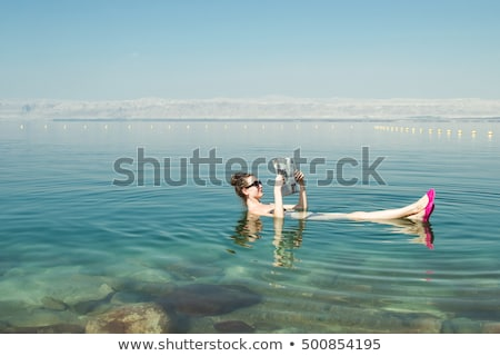 Mer morte surface de l'eau Rechercher vert eau monde Photo stock © eldadcarin
