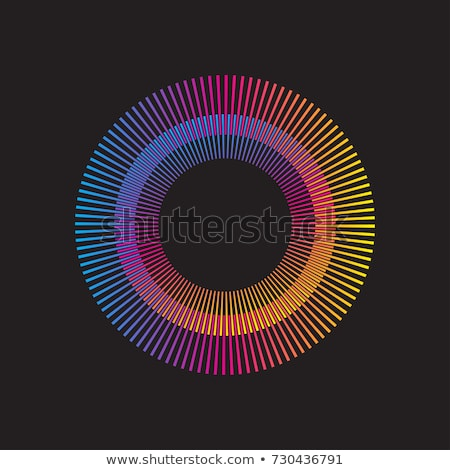 abstract rainbow rounded explode circle Stock photo © pathakdesigner