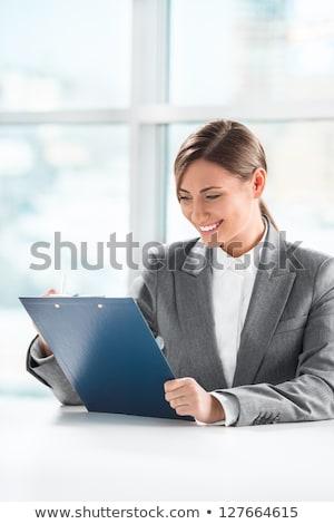 表示 · かなり · ビジネス女性 · 焦点 · ビジネス · 計画 - ストックフォト © hasloo