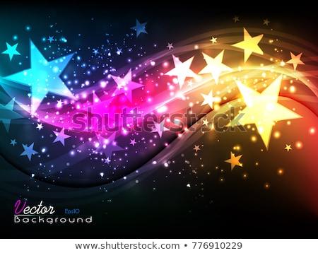 Résumé coloré star fête peinture neige Photo stock © rioillustrator